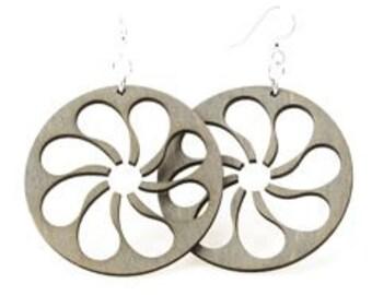 Fan Blade - Wood Earrings
