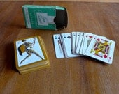 Sweet Miniature Mid-Century Harlequin Tom Thumb Junior Playing Cards