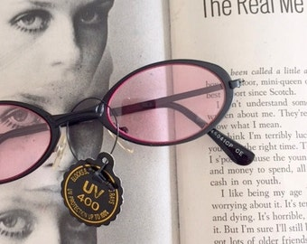 1980s PINK SPECTACLES Sunglasses..specs. librarian. groovy. twiggy. mod. retro glasses. prep. secretary. urban. hipster. ozzy. lennon
