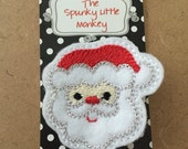 Santa Embroidered Felt Clip by The Spunky Little Monkey
