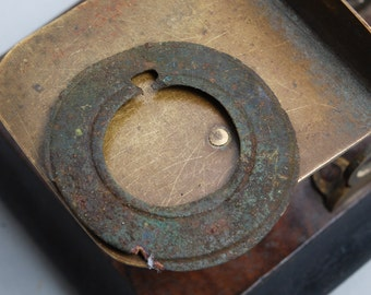 Antique brass plate, part of jewelry, ring, toggle