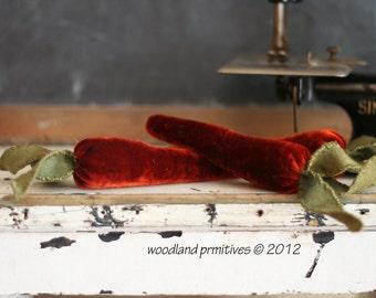 velvet carrot sewing emery