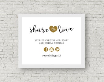 Wedding Instagram Hashtag Sign PDF