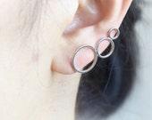 Circles Ear Climber / circles pierced ear cuff, gold, silver