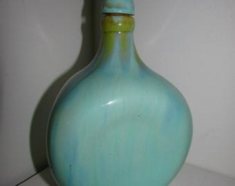 McCoy Pottery Decanter Seafoam Green