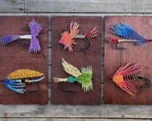 Fly Fishing String Arts - Colorful Flies - String & Nail - Bozeman Montana