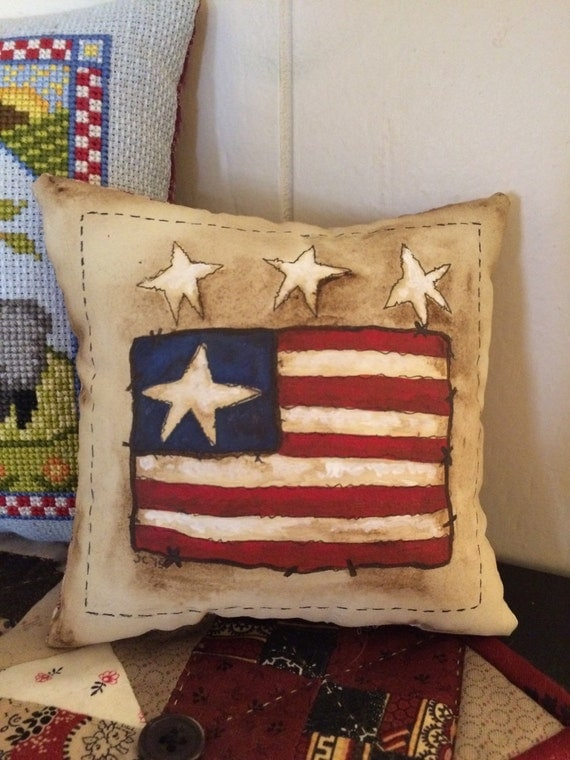 Hand painted - Americana - little pillow - bowl filler - OFG - FAAP