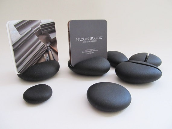 Pebble Business Card Holder