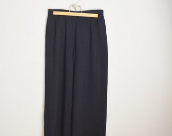 Vintage St. John Evening Black Knit Pants // size 12 -- 31 x 28