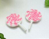 10 pc of Resin Lollipop Candy Cabochon 28mm
