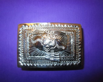 Pewter trinket box embellished with a Catrina