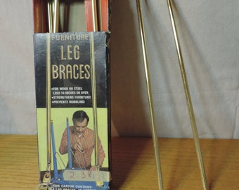 NOS Brass Leg Brace. Gerber Leg Braces Mid Century Furniture Leg Brace Mid Century furniture support