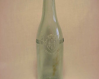 c1918 Rubsam & Horrimann Brewing Co. New York, N.Y. , Aqua Glass Crown Top Preprohibition Beer Bottle