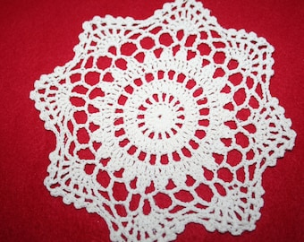 Vintage Hand Crocheted Doily- 6.75 inches
