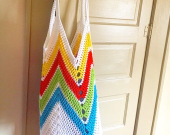 Beach bag - market bag - crochet bag - crochet market bag - crochet beach bag