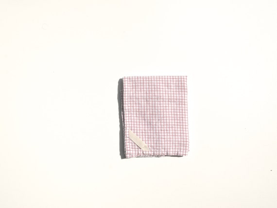 Linen Dish Towel in Red Check