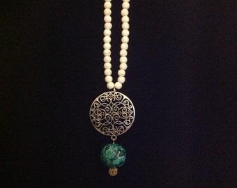 Boho Inspired Beaded Necklace