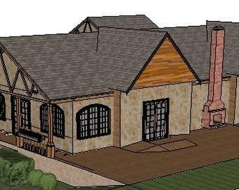 1 story 3 bedroom 2.5 bath house plans