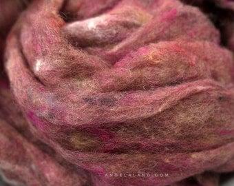 Wool Fluff Basket Stuffer, Fill, Newborn Photography Prop, Rosewood, Dusty Pink, Rose, Textured Wool Batting, Photo Prop, Natural, Fleece