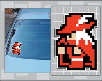 RED MAGE from Final Fantasy 8 Bit Sprite Vinyl Decal Classic NES Sticker