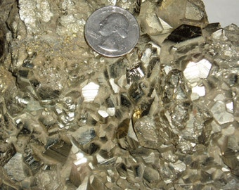 Pyrite, Large Cluster of Crystals,