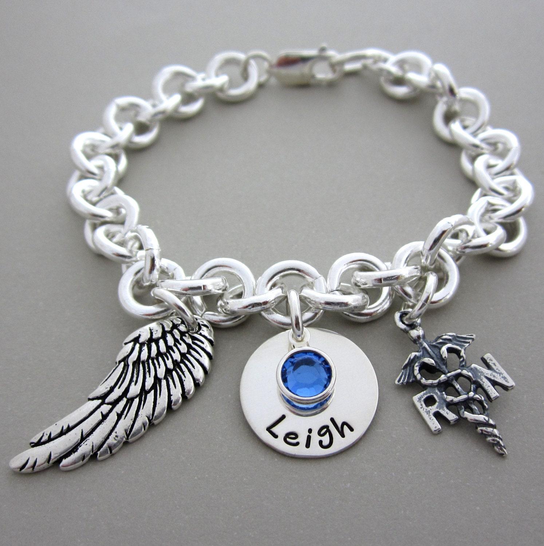 rn jewelry bracelet personalized rn by