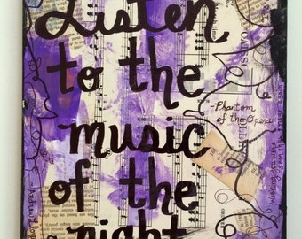 Phantom Of The Opera Music Art Painting Broadway Musical Theater Theatre Singer Gift Quote Mixed Media