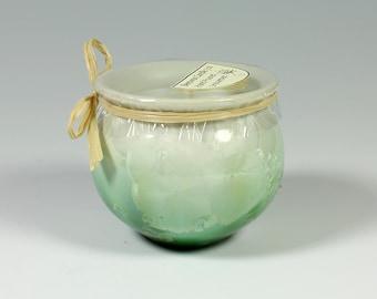 Emerald Crystalline Glazed Beeswax Candle: 3oz