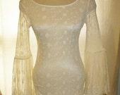 Rare Victoria's Secret Fairytale Bohemian Wedding Gown, Nightgown Lacy,Beach Wedding Dress
