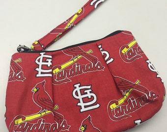 St. Louis Cardinals Double Pleated Wristlet