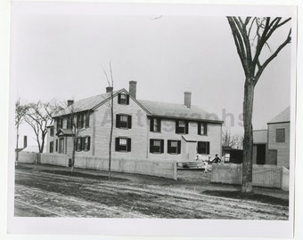 George Peabody - Birthplace, House, Peabody, Ma - Vintage 8x10 Photograph