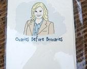 Waffle Loving Lady Card