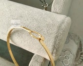 15 pcs fabulous gold plated over raw solid brass basic bangles wired bracelet findings-F1449jin
