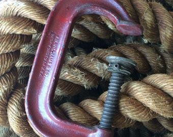 A Vintage Chippy Red Deep Throat C Clamp Waiting For Your Workshop