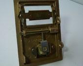 Mail Box Door 1960's Brass Salsbury Star Locking Post Box Door, Industrial Decor, Supply