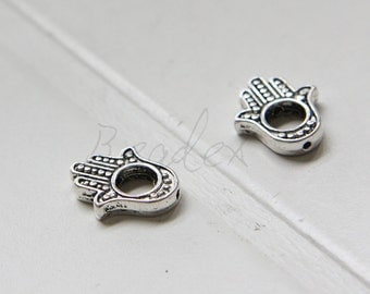 20 Pieces / Hamsa Hand / Spacer / Oxidized Silver / Base Metal / 15x13mm (Y265//D416)