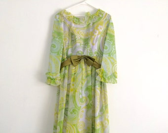 1960s psychedelic floral maxi dress, designer vintage lorrie deb of san francisco, hippie dress