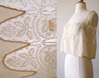 1910's Titanic Silk Lace Camisole Negligee