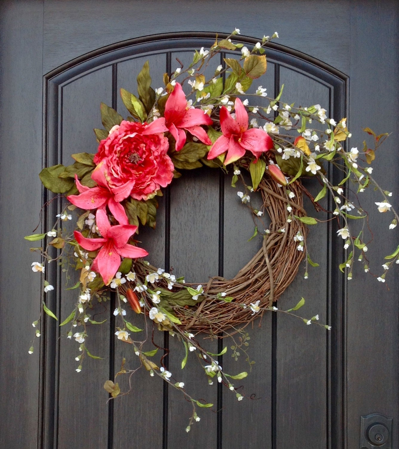 spring flower heart wreath by pippa designs ... |Spring Flower Wreath