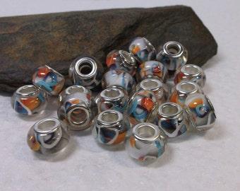 20 Gorgeous Euro Lampwork Beads