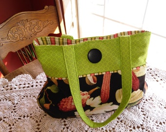 Vintage Fabric Is Featured in this Purse
