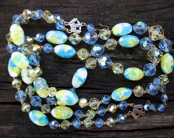 Spectacular murano glass, austrian crystal vintage necklace