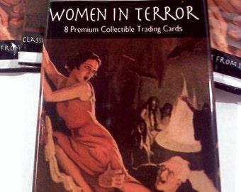 Women in Terror Horror Trading Cards