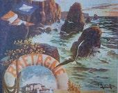 Original Vintage French Poster Bretagne Travel Poster Small Format Chromo Brittany France