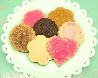 New 2nd Edition 6 Month Cookie of the Month Club - Butter Blossoms Shortbread Cookies - Valentine's Day Cookie Gift