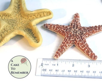 "Extra-large 4 1/2"" starfish Mold for cake decorating, chocolate mold, polymer clay mold, resin mold, soap mold, silicone mould, M43"