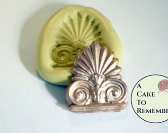 Small acanthus medallion mold for pmc jewelry making, cake decorating, chocolate mold, polymer clay, utee, resin, necklace charm mold M5002