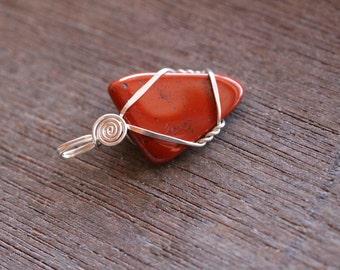 Red Jasper Sterling Silver Pendant #6217