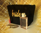 personalized bridesmaids gifts, bridal accessory, personalized bride, bridal make up bag, bridesmaids gift, bridal shower, bridal gifts