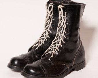 Men's Black Combat Boots Size 11 E